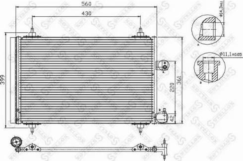 Stellox 10-45067-SX - Конденсатор, кондиционер avtodrive.by