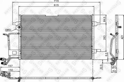 Stellox 1045006SX - Конденсатор, кондиционер avtodrive.by