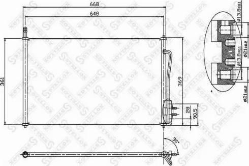 Stellox 1045001SX - Конденсатор, кондиционер avtodrive.by