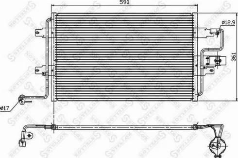Stellox 10-45011-SX - Конденсатор, кондиционер avtodrive.by