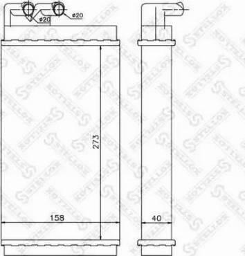 Stellox 10-35001-SX - Теплообменник, отопление салона avtodrive.by