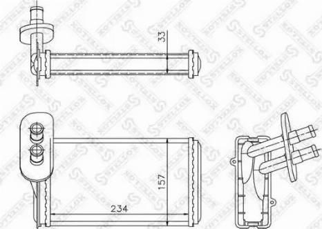 Stellox 10-35019-SX - Теплообменник, отопление салона avtodrive.by