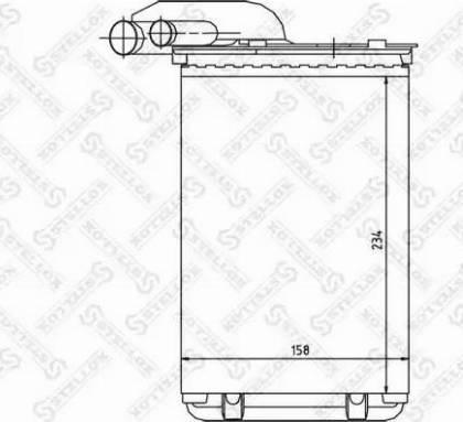 Stellox 10-35014-SX - Теплообменник, отопление салона avtodrive.by