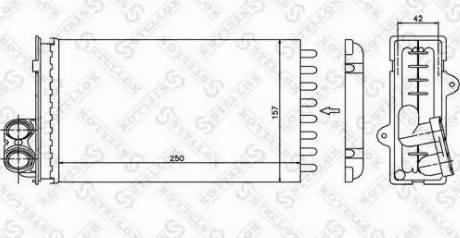 Stellox 10-35012-SX - Теплообменник, отопление салона avtodrive.by