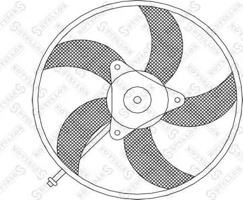 Stellox 2999004SX - Вентилятор, охлаждение двигателя avtodrive.by