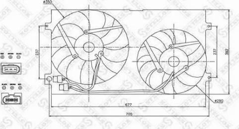 Stellox 2999007SX - Вентилятор, охлаждение двигателя avtodrive.by