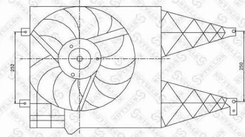 Stellox 29-99011-SX - Вентилятор, охлаждение двигателя avtodrive.by