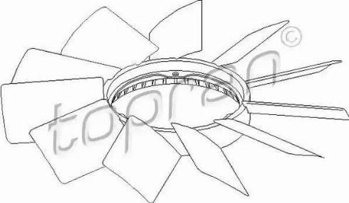 Topran 500 900 - Крыльчатка вентилятора, охлаждение двигателя avtodrive.by