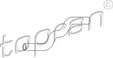 Topran 102 873 - Шланг, теплообменник - отопление avtodrive.by