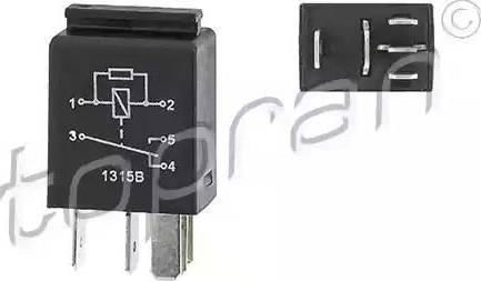 Topran 115664 - Реле, вентилятор радиатора avtodrive.by