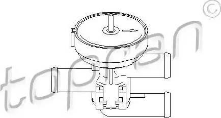 Topran 206 241 - Регулирующий клапан охлаждающей жидкости avtodrive.by