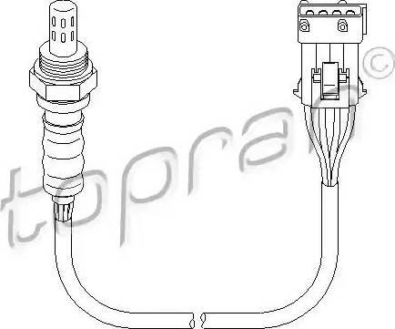 Topran 721 861 - Лямбда-зонд, датчик кислорода avtodrive.by