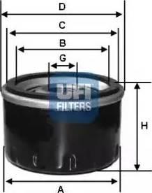 UFI 23.257.00 - Гидрофильтр, автоматическая коробка передач avtodrive.by