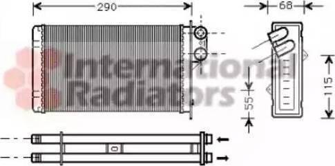 Ava Quality Cooling PE6100 - Теплообменник, отопление салона avtodrive.by
