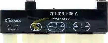 Vemo V15-71-0033 - Реле, продольный наклон шкворня вентилятора avtodrive.by