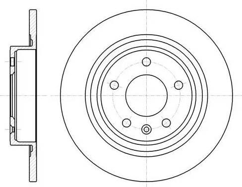 Trialli DF084710 - Экономичный тормозной диск avtodrive.by