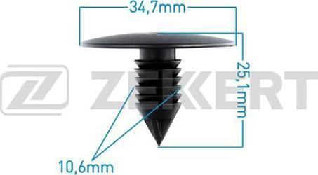 Zekkert BE1854 - Зажим, молдинг / защитная накладка avtodrive.by