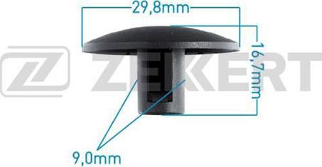 Zekkert BE2091 - Зажим, молдинг / защитная накладка avtodrive.by